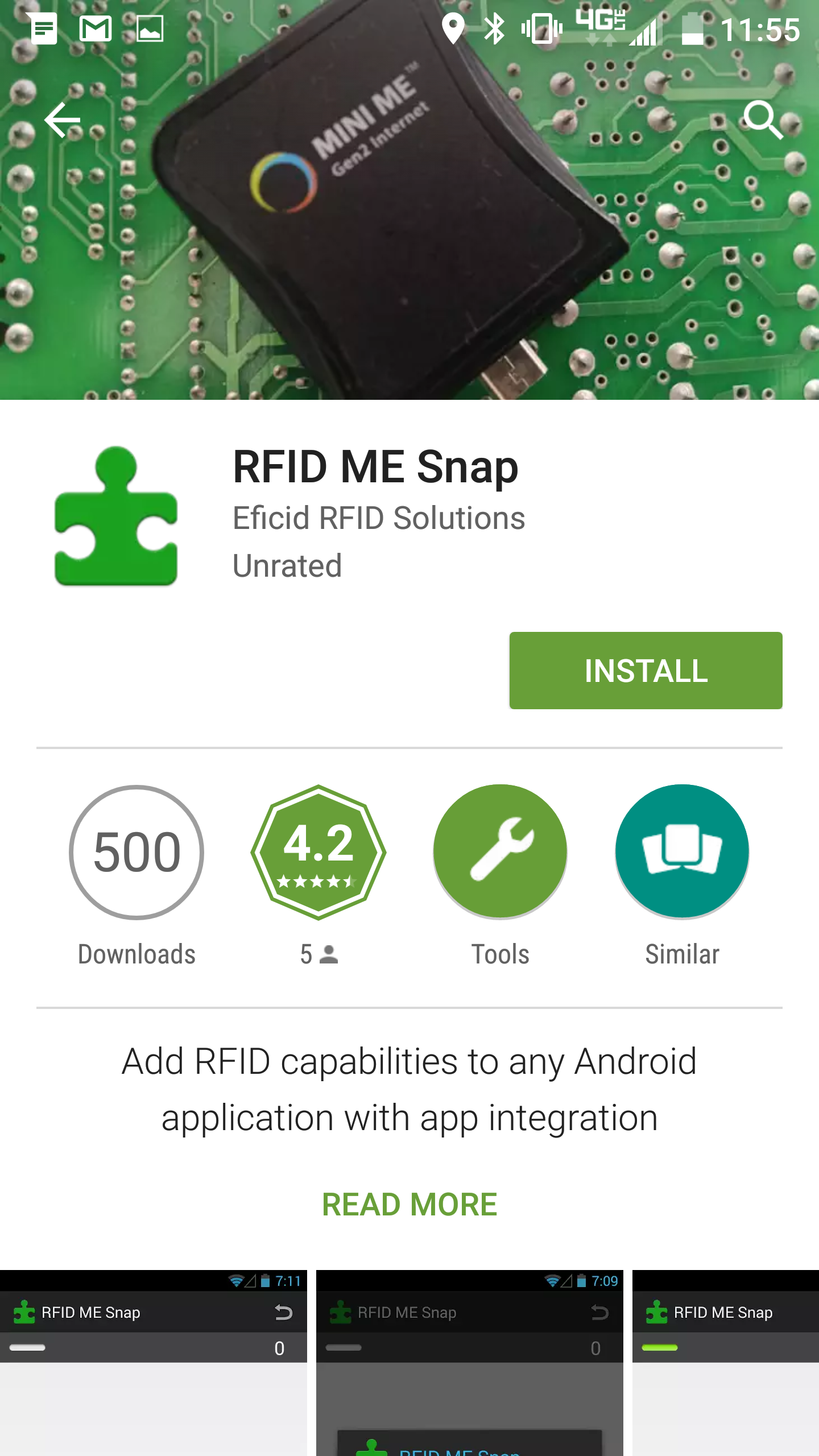 RFID Mobile Applications with MiniME – Pendragon